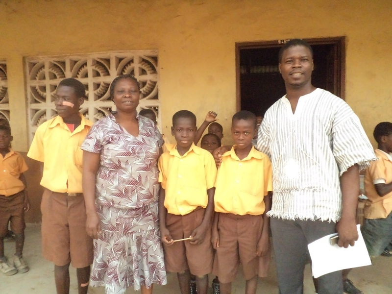 Some of children with their teacher and CHF staff