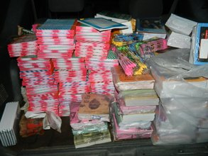 some of the books purchased for sponsored kids