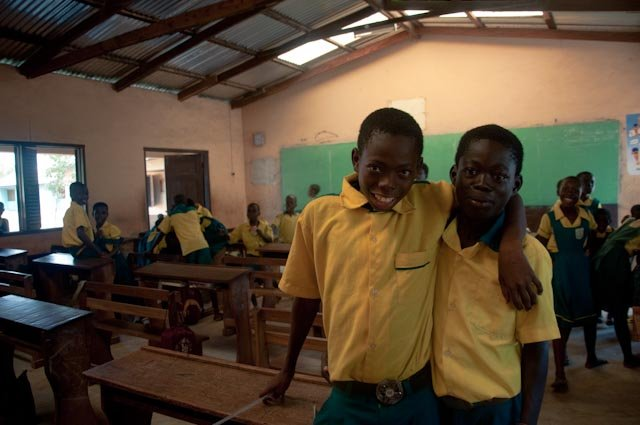 some other recently rescued kids happy in school