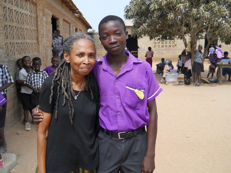 Gyasi with Rosemarie, a volunteer from Florida, US