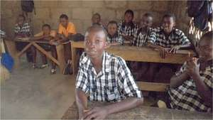 Emmmanuel at school, Nyanyano