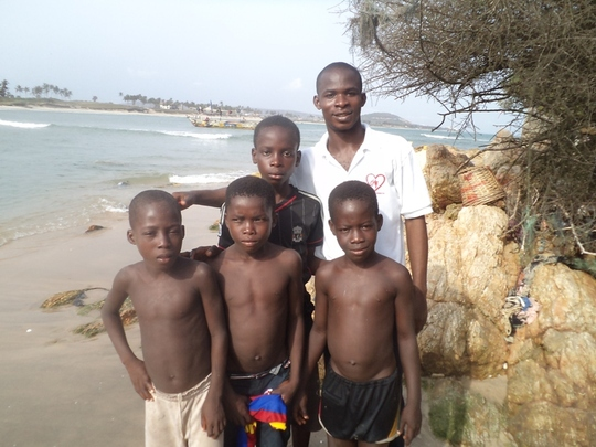 some of the rescued children at Nyanyano village