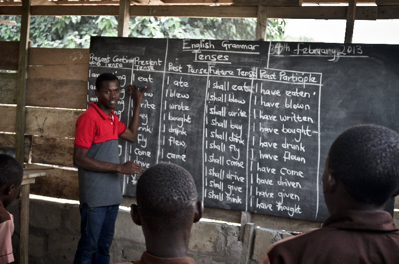 Rescued kids being taught to improve their Grammar