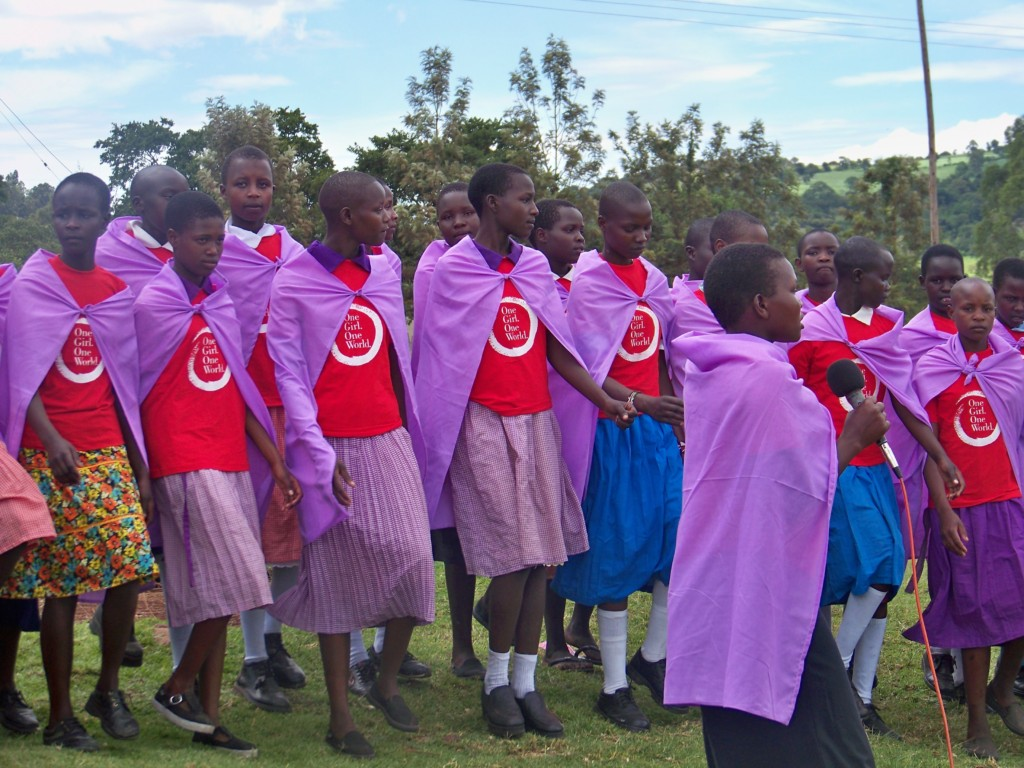 Girls at the graduation ceremony