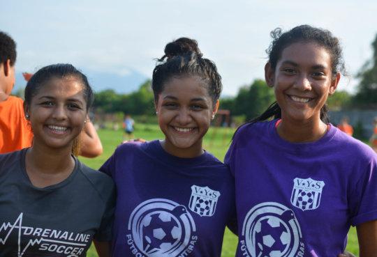 Rosa, Alison, and Reyna of SWB Nicaragua