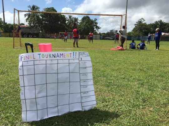 Teams play in the Final Tournament of camp