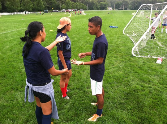 Coaches took in new ideas at a youth soccer camp