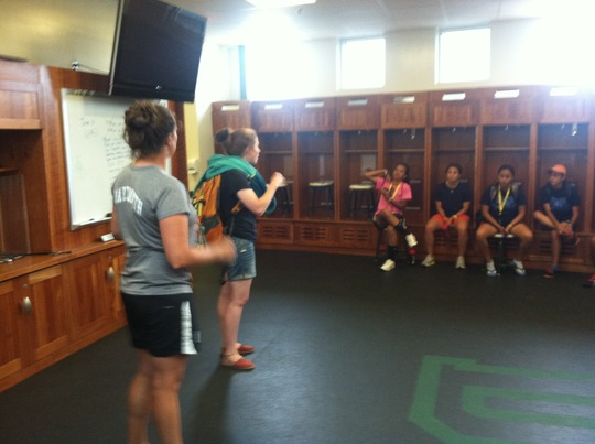 Coaches learning about the NCAA at Dartmouth