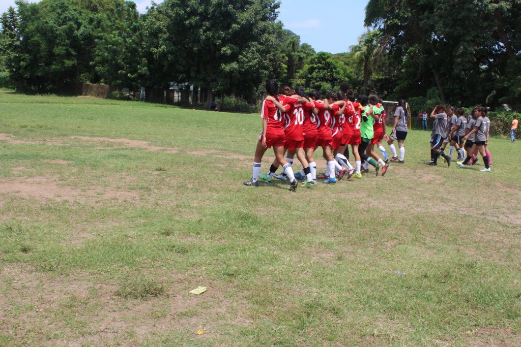 Teams take the field for the championship match