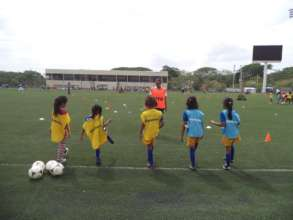 FSF players celebrate Women's Football Day
