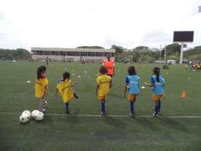 FSF players celebrate Women's Football Day