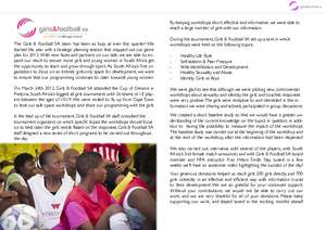 Girls & Football SA Report March 2012 (PDF)