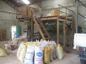 Rice mill supported by SIBAT and run by community