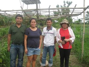 Ma'am Vicky and the SIBAT staff in Tarlac