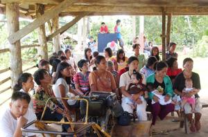 Farmers' community meeting in Bohol