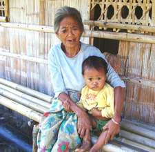 Blaan mother and child