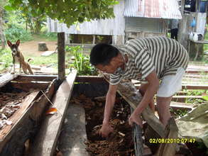 Making of vermicompost in Bohol