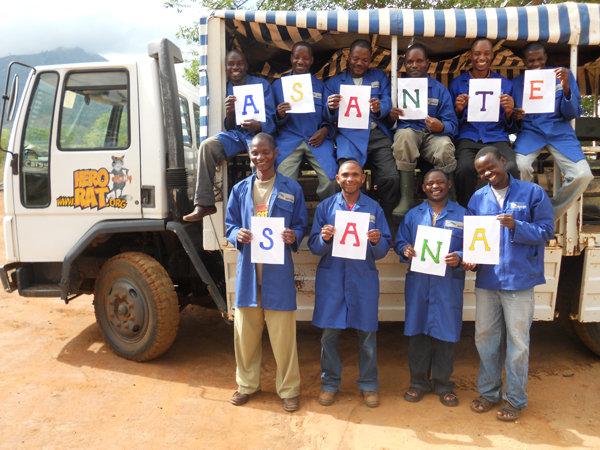 Asante Sana from the HeroRAT trainers in Tanzania!