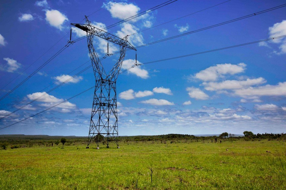Power lines were mined during the war.