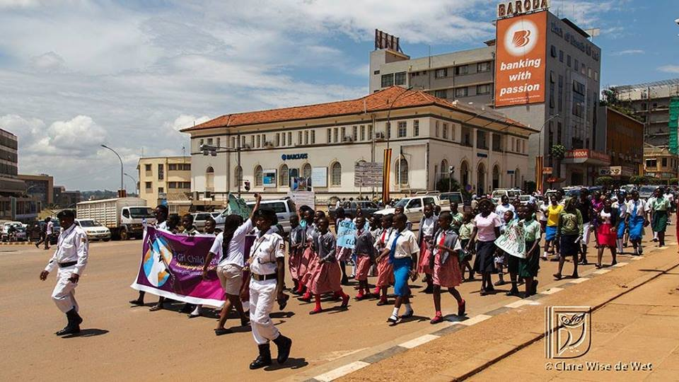 Girls in Uganda protest against abuse