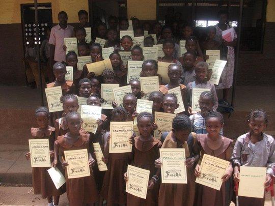 Anita Koroma gives girls empowerment kits