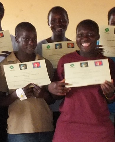 Girls get certificates after vocational training