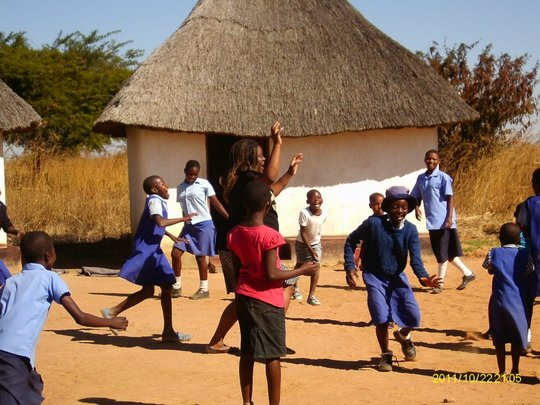Playing at Girls Empowerment Village