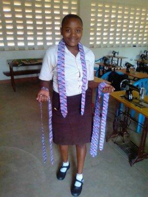 Student in garment design class