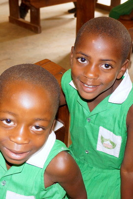 2 Kutamba Primary School Students YOU are helping