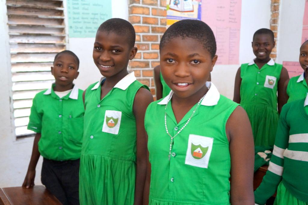 Girls at Kutamba Primary School