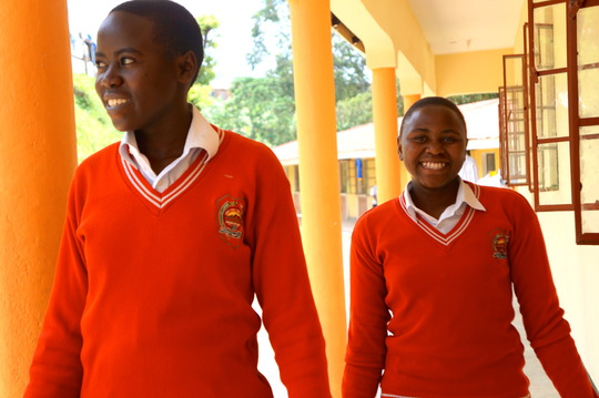 Two of The Secondary Students YOU are Helping