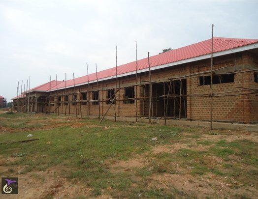 Girls' Dormitory with new roof (side view)