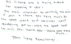 Irene is Grateful!