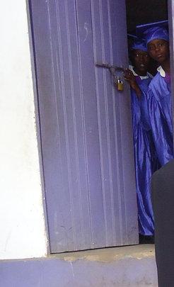Graduates Peeking Into Their Future