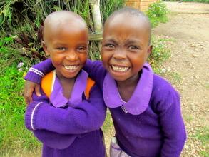 Sheila & Ritah at Nyaka Primary School