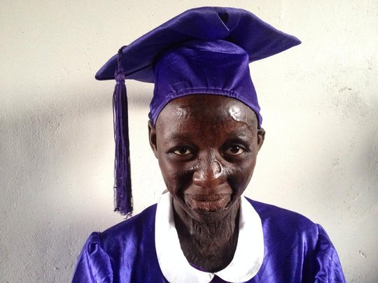 Justine the proud graduate