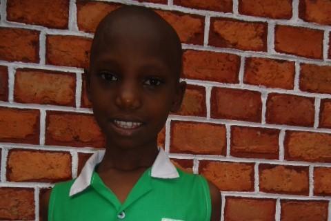 Lakiel in her Kutamba Primary School uniform