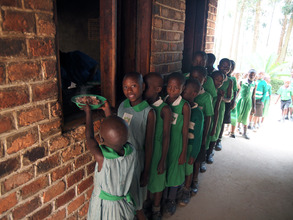 Kutamba Students in Line for Lunch