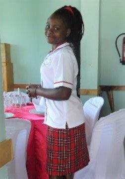 Sarah working at the Platinum Hotel in Rukungiri