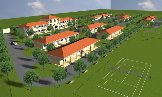 Artistic Rendering of Completed School