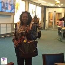 Shirah at the airport in Canada!