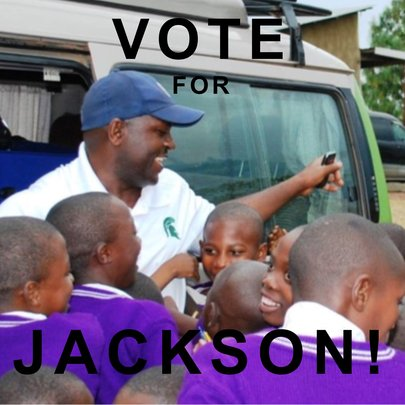 Jackson with some of YOUR Nyaka students!