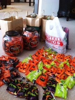 Halloween goodie bags for school kids