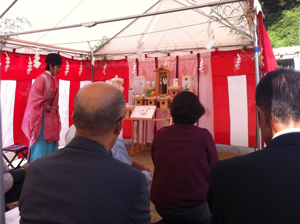 Groundbreaking Ceremony in Shinto Style