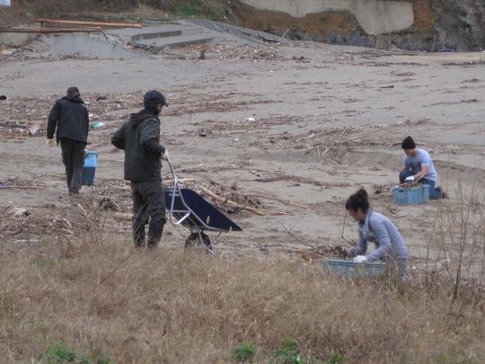 Cleaning Arahama Beach