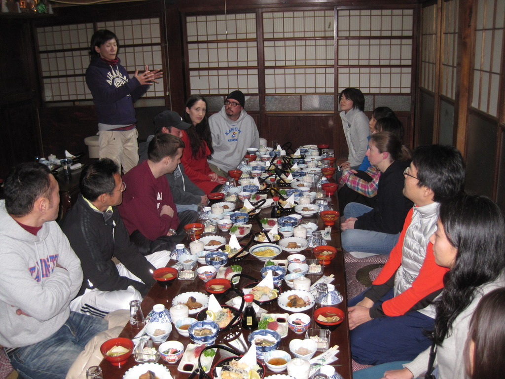 Dinner at local minshuku (Japanese inn)