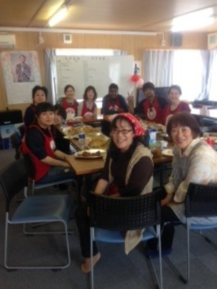 Yamamoto-cho. HOT cafe at temporary housing site