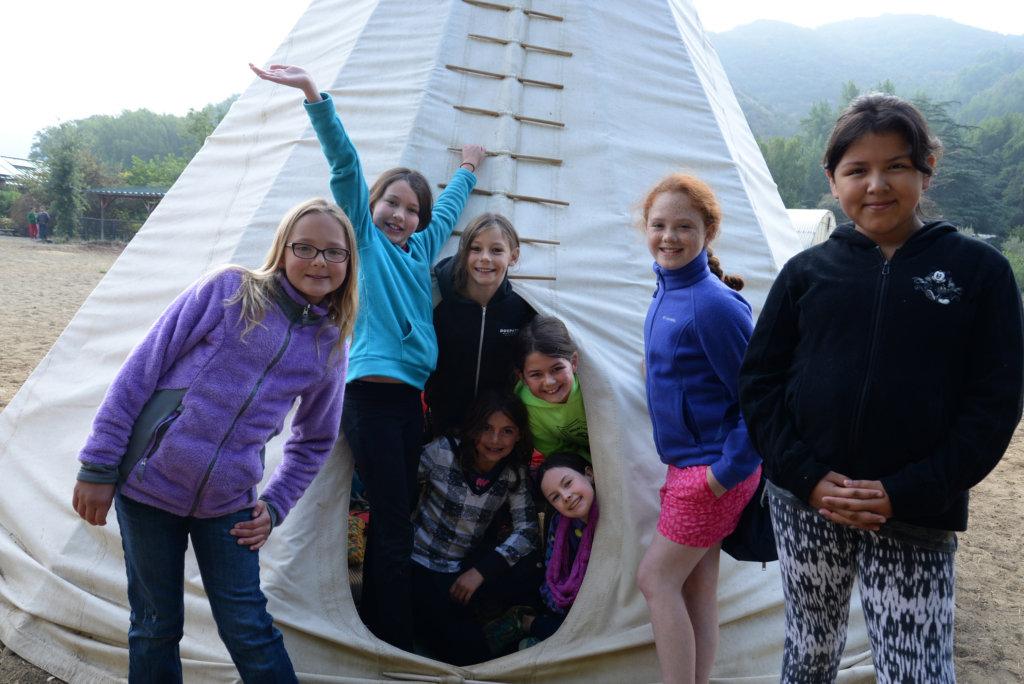 Tipi Campers at Hidden Villa