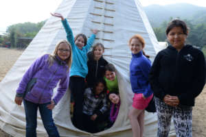 Tipi Campers at Hidden Villa