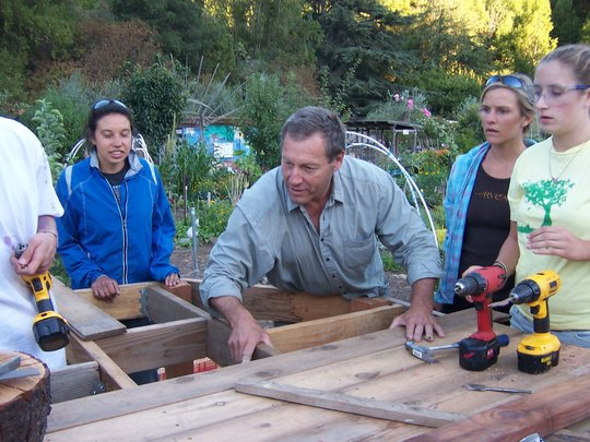 Bill Leads a Carpentry Exercise